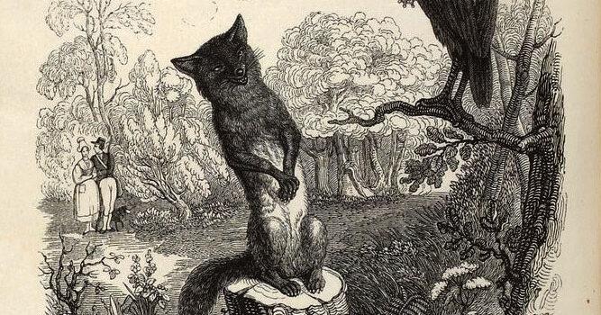 Le corbeau et le renard de Jean de la Fontaine